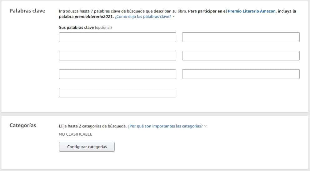 Cómo elegir las palabras clave y las categorías para un libro en Amazon KDP