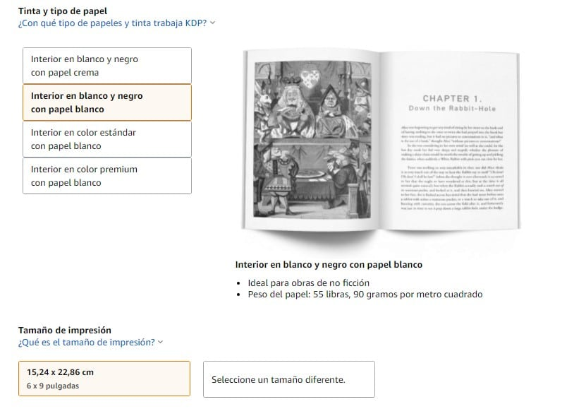 ¿Qué tipo de papel es mejor para un libro de Amazon KDP