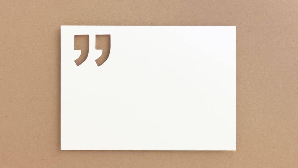 [Imagen 1: Saber cuándo se usan las comillas demuestra un gran conocimiento del castellano.]